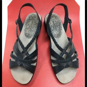 Great Navy Blue Sandals by BareTraps.